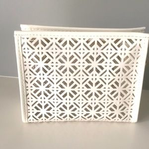 Tory Burch Cosmetic Pouch - White/ Clear